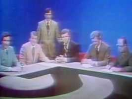 An early NewsCenter 5 news team