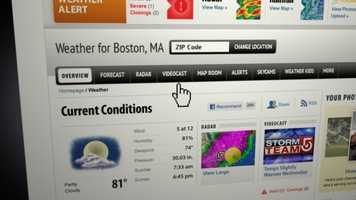 Our new weather home page even has its own navigation, featuring quick access to maps, videocasts and much more.