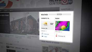 Get a quick glance at weather on the home page. It's right at the top, showing you live current conditions, an HD Doppler radar snapshot and links to the most popular weather content. You can also monitor severe weather alerts and school closings as they come in from the Newsroom.