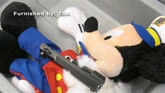 Mickey Mouse gun parts at TF Green