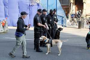 Security at the finish line.