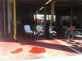 Stretchers ready at Natick Fire HQ