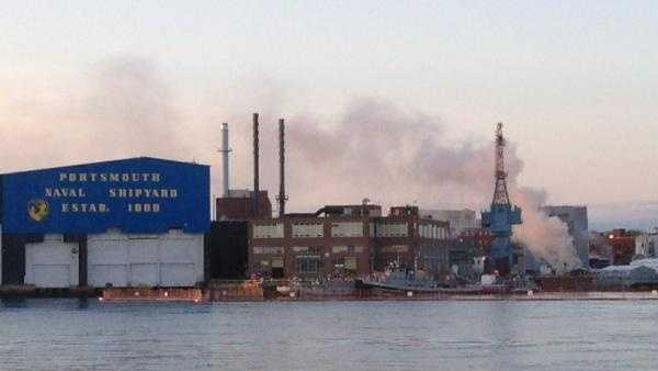 Fire on nuclear submarine at Portsmouth Naval Shipyard