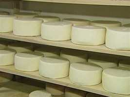 This season's Weston Wheel, a sheeps' milk cheese.