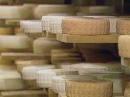 To encourage the development of the rind, all these cheeses are washed and turned three times a week.