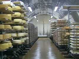 The vaults age Jasper Hill's own cheese, and that of small producers, including the Von Trapps.