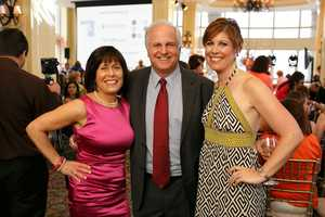 Gail Fine of the Ellie Fund, WCVB-TV President Bill Fine and Kelley Tuthill