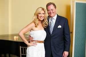 Bianca de la Garza with Philip Stolz, senior vice president of Hearst Television, Inc