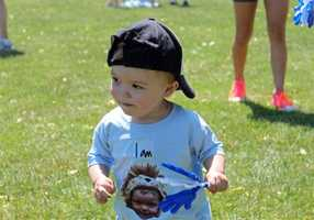 """Meet Lucas """"the lionhearted miracle."""" His family was one of thousands participating in the 10th annual NSTAR Walk for Children's hospital."""
