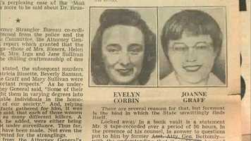 "Joann Graff, 23, was sexually assaulted and strangled on November 23, 1963 in Lawrence.  She was the 12th ""Strangler"" victim."