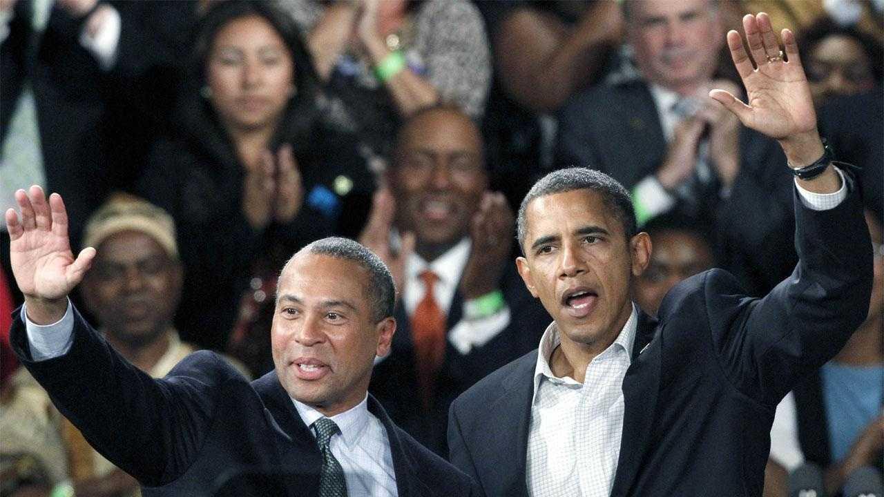 Obama Deval Patrick Boston 10_16_2010 - AP - 25414422