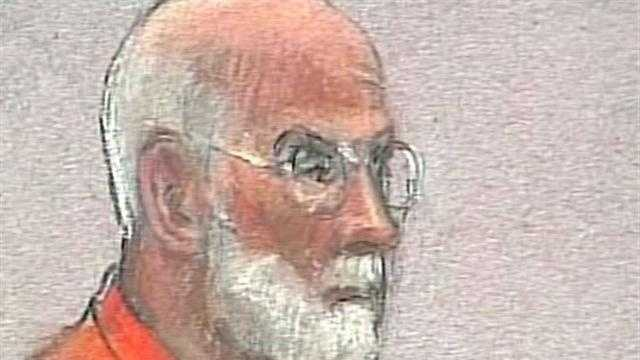 "James ""Whitey"" Bulger In Court Orange Jumpsuit Sketch - 28385718"