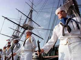 The ship's present crew consists of three officers and 67 enlisted sailors.