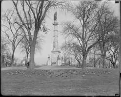 The Soldiers and Sailors Monument was constructed in 1877 in memory of local soldiers and sailors who died in the Civil War.