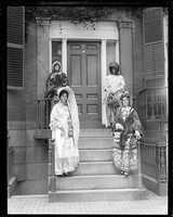 Ladies dressed in costume, Old Boston celebration, 1924.