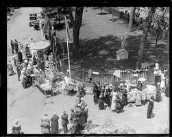 The 100th birthday celebration of Louisburg Square, 1924.