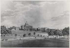 The view of the State House from the Common, 1828.