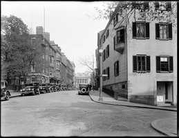 View of a residential street in Beacon Hill.