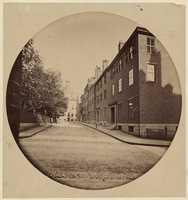 Mt. Vernon Street near the State House, 1860.