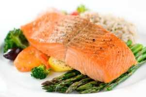 High-protein combined with rich levels of omega 3 fatty acids make salmon a super-food.