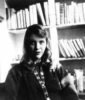 "Sylvia Plath was a poet and writer.   Following a long struggle with depression, she committed suicide by gas in her kitchen. She became the first poet to win a Pulitzer Prize posthumously, for ""The Collected Poems.""(October 27, 1932 – February 11, 1963)"