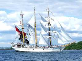 The Dewaruci of Indonesia is the only tall ship mast ship of the Barquentine, owned and operated by the Indonesian Navy and built as a sail training vessel.