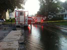 Several people were temporarily displaced from the fire.