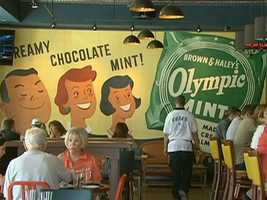 The whimsically decorated restaurant is on Boylston Street near Fenway Park.