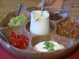 The owner recommends the make your own nachos platter.