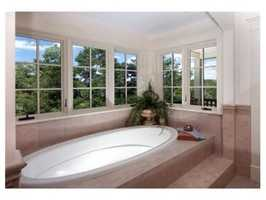 The home features six full bathrooms.