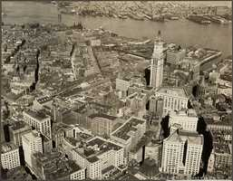The Boston business district in 1925, note how the Custom House Tower dominates the skyline.