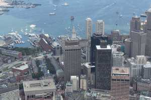 Here is a similar view in 2012. Note that the Custom House Tower is dwarfed by other buildings.