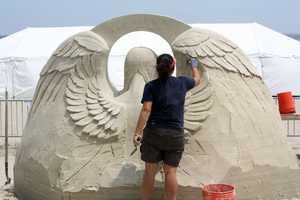 Sue McGrew is from Tacoma, Washington and says she has been addicted to sand sculpting since high school.
