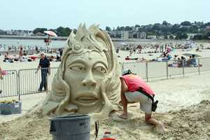 The event is the largest sand sculpting festival on the East Coast.