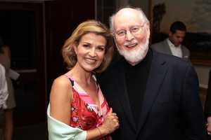 Violinist Anne-Sophie Mutter and composer and conductor John Williams.