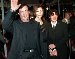 """Sage Moonblood Stallone was the oldest of Sylvester Stallone's children and co-starred with his father in two films. Sage Stallone made his acting debut in 1990's """"Rocky V"""" and also appeared with his father in 1996's """"Daylight."""" (May 5, 1976 – July 13, 2012)"""