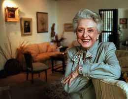 """Celeste Holm was a versatile, bright-eyed blonde who soared to Broadway fame in """"Oklahoma!"""" and won an Oscar in """"Gentleman's Agreement"""" but whose last years were filled with financial difficulty and estrangement from her sons.In a career that spanned more than half a century, Holm played everyone from Ado Annie — the girl who just can't say no in """"Oklahoma!""""— to a worldly theatrical agent in the 1991 comedy """"I Hate Hamlet"""" to guest star turns on TV shows such as """"Fantasy Island"""" and """"Love Boat II"""" to Bette Davis' best friend in """"All About Eve.""""(April 29, 1917 – July 15, 2012)"""