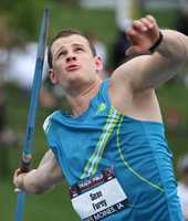 At Dartmouth College, Furey holds the school record in the javelin.