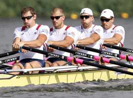 Rower Will Miller (2nd from left) graduated from Duxbury High School and Northeastern University. His father was a member of the 1972 U.S. Olympic rowing team.
