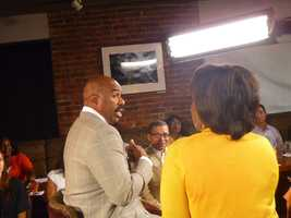 Steve Harvey and Cityline host Karen Holmes Ward chatting about his new TV show that airs this fall on Channel 5.