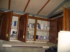 Inside the Florida trailer where Stanger lived.