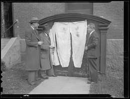 A leg wrapped in a burlap bag was found in Boston Harbor in October 1936.