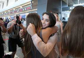 Medal-winning Olympic gymnast Aly Raisman is back in New England, at least for a while.