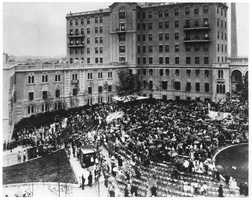 Hundreds gathered to celebrate the dedication of the new Beth Israel Hospital on Brookline Avenue, August 1, 1928.