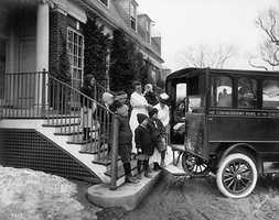 During the 1920s and 1930s, a special ambulance shuttled patients between the Convalescent Home and Children's on Longwood Avenue.