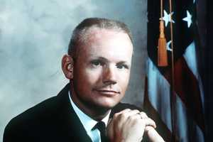 """Neil Armstrong was a quiet self-described nerdy engineer who became a global hero when as a steely-nerved pilot he made """"one giant leap for mankind"""" with a small step on to the moon. The modest man had people on Earth entranced and awed from almost a quarter million miles away.(August 5, 1930 – August 25, 2012)"""