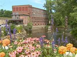 In 1976, the Fitzpatrick's bought this once abandoned textile mill, along the Housatonic River.