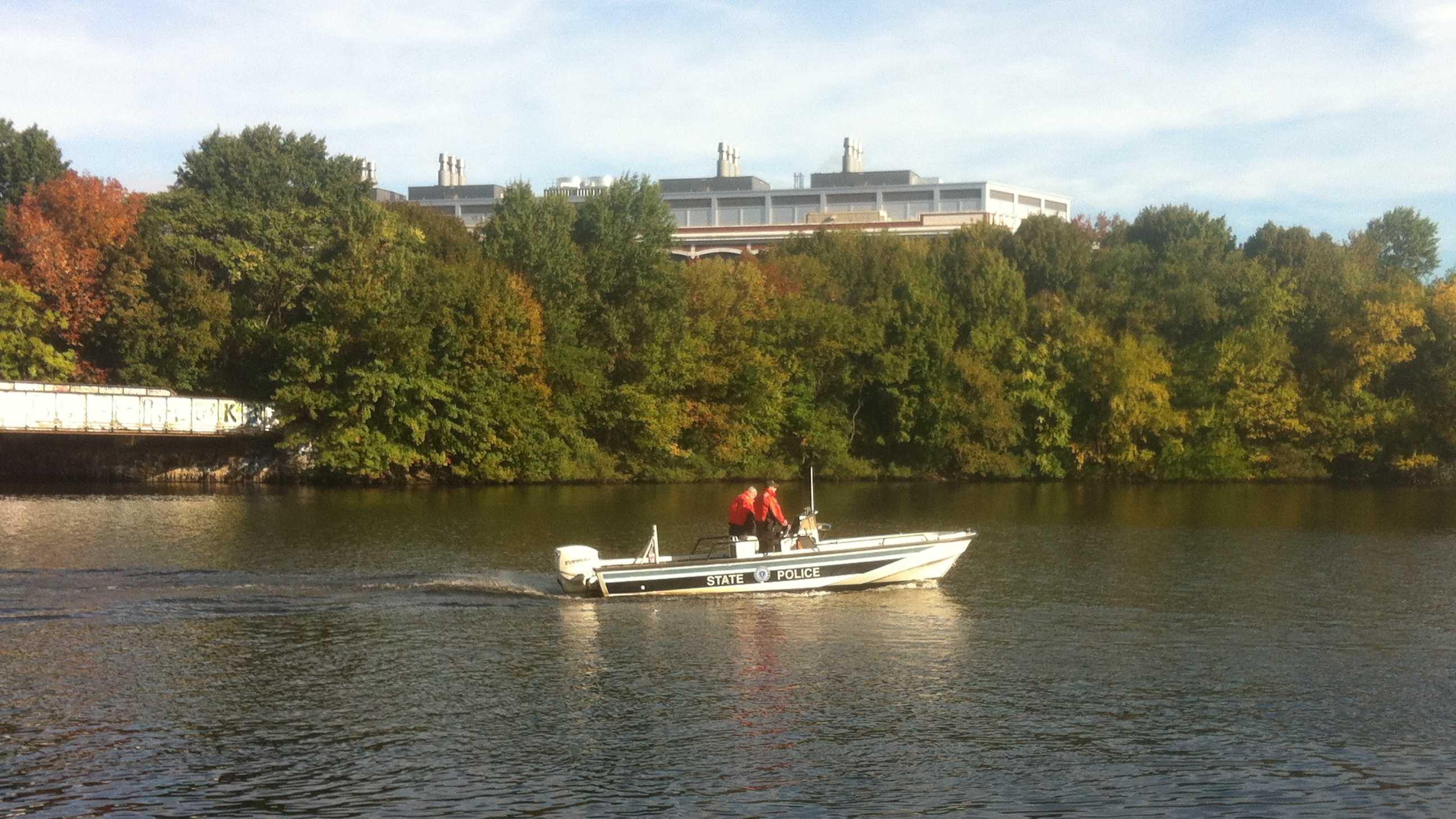 State police boat in river