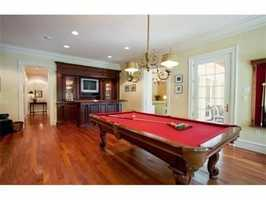 A place to play pool.