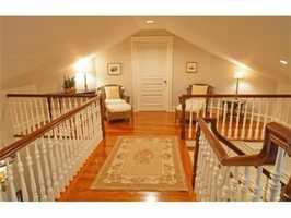 The rooms feature mahogany flooring.